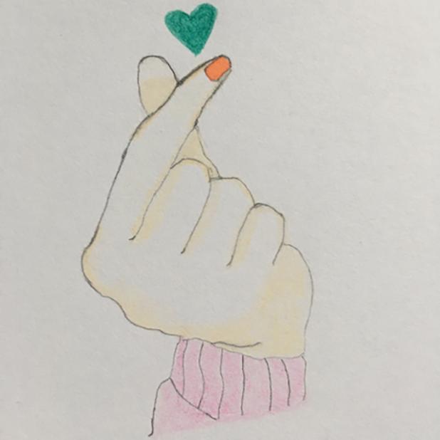 Heart Shaker : finger heart messages sticker-0
