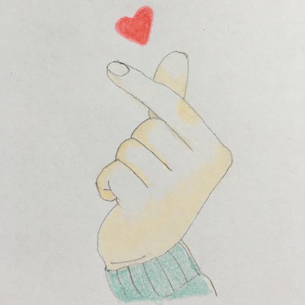 Heart Shaker : finger heart messages sticker-1