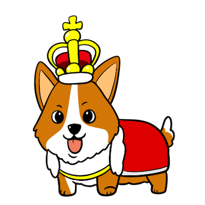 Royal Corgis Emoji Stickers messages sticker-1