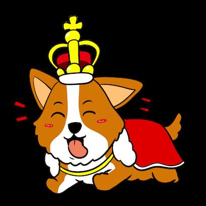 Royal Corgis Emoji Stickers messages sticker-0