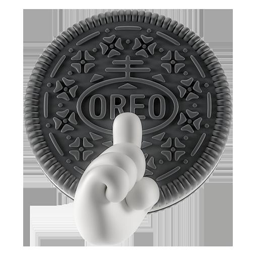 Oreo-emoji messages sticker-4