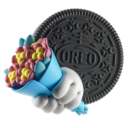 Oreo-emoji messages sticker-7