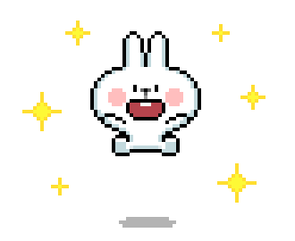 Bunny Pixel Cutie Animated messages sticker-3