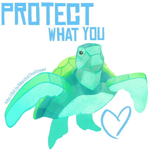 March for the Ocean messages sticker-5