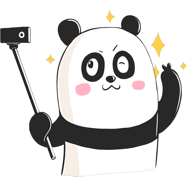 Panda! Stickers & Emoji Funny messages sticker-6