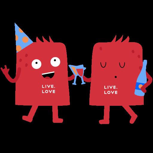 """Стикеры LIVE.LOVE """"Ливлавики"""" messages sticker-6"""
