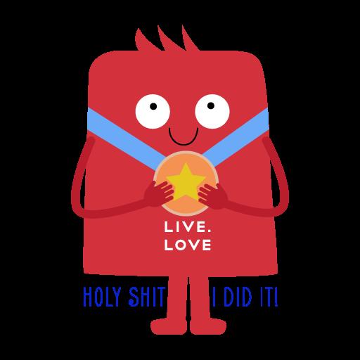 """Стикеры LIVE.LOVE """"Ливлавики"""" messages sticker-7"""