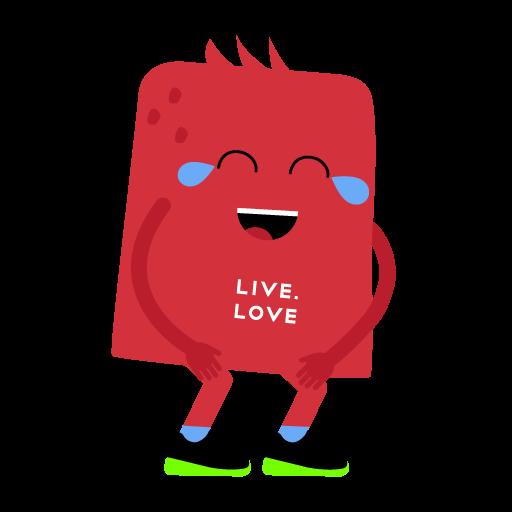 """Стикеры LIVE.LOVE """"Ливлавики"""" messages sticker-8"""