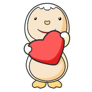 Animated Lovely PengKong messages sticker-4