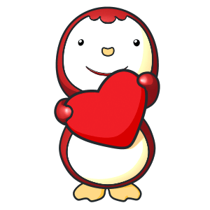 Animated Lovely PengKong(Red) messages sticker-4