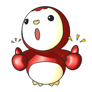 Animated Lovely PengKong(Red) messages sticker-0