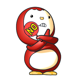 Animated Lovely PengKong(Red) messages sticker-3