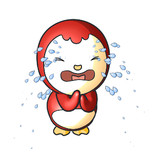 Animated Lovely PengKong(Red) messages sticker-10