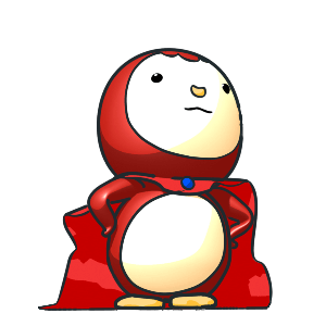 Animated Lovely PengKong(Red) messages sticker-7
