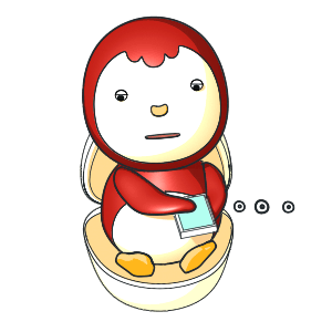 Animated Lovely PengKong(Red) messages sticker-9