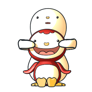 Animated Lovely PengKong(Red) messages sticker-11