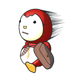 Animated Lovely PengKong(Red) messages sticker-6