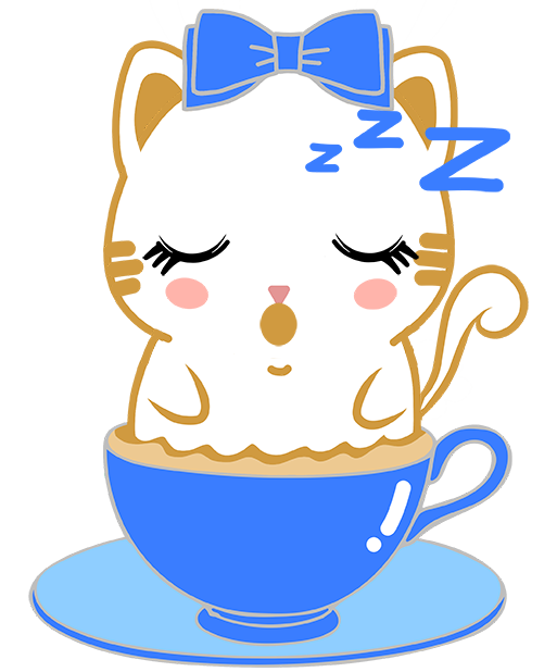 Caramel Kitty Cappuccino messages sticker-1