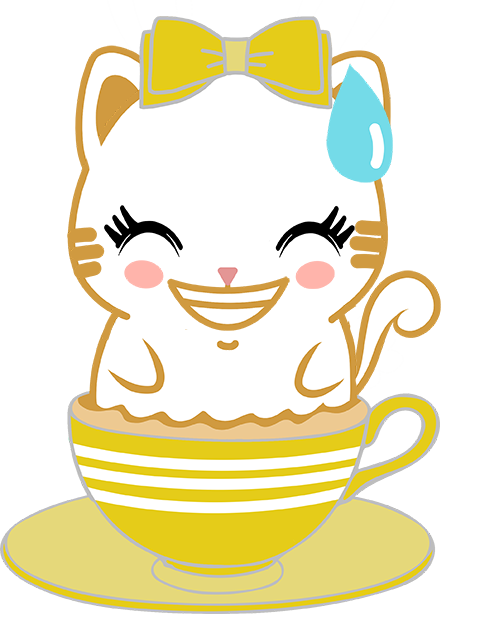 Caramel Kitty Cappuccino messages sticker-4