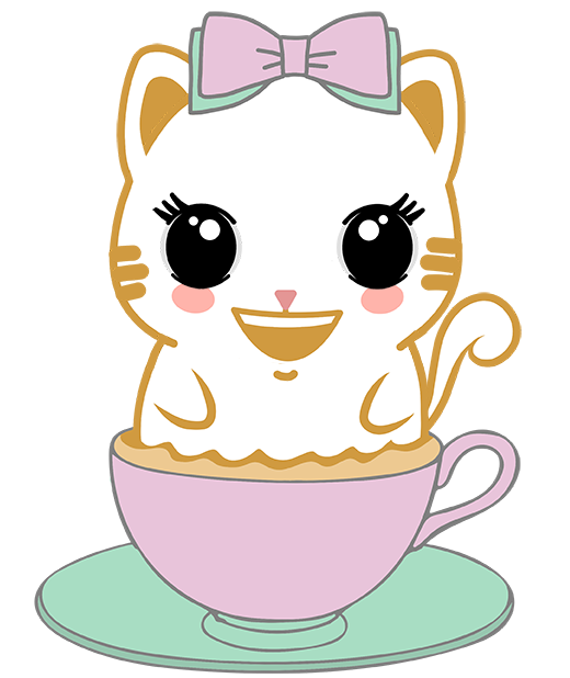 Caramel Kitty Cappuccino messages sticker-0