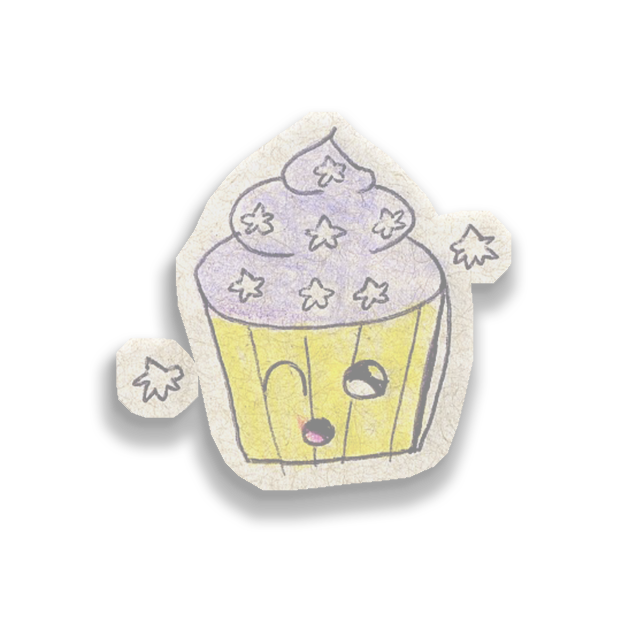 Kawaii! Say it with a Cupcake messages sticker-10
