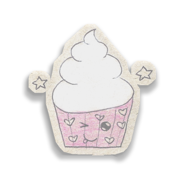 Kawaii! Say it with a Cupcake messages sticker-8