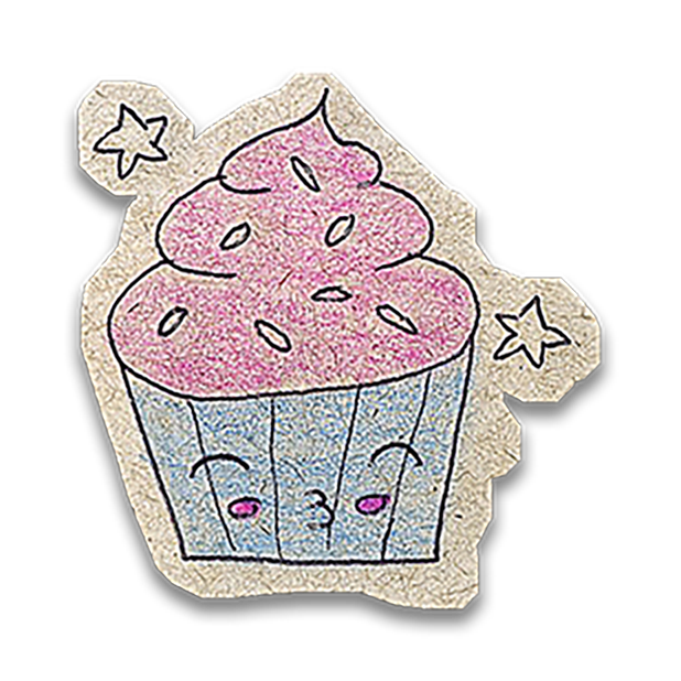 Kawaii! Say it with a Cupcake messages sticker-1