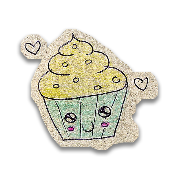 Kawaii! Say it with a Cupcake messages sticker-3