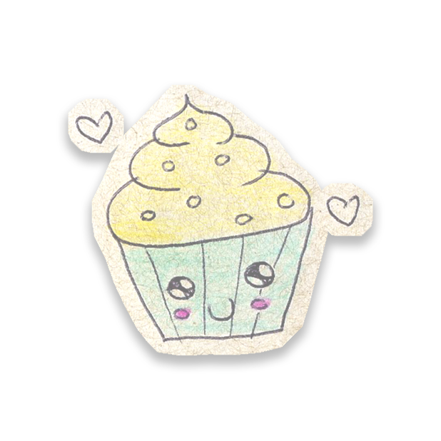 Kawaii! Say it with a Cupcake messages sticker-2