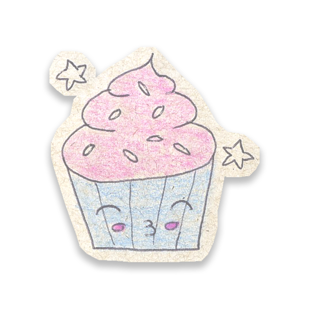 Kawaii! Say it with a Cupcake messages sticker-0