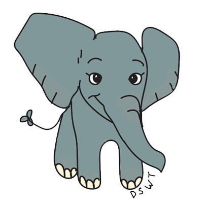 DSWT Baby Elephant Stickers messages sticker-0