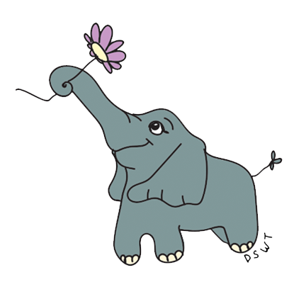 DSWT Baby Elephant Stickers messages sticker-6