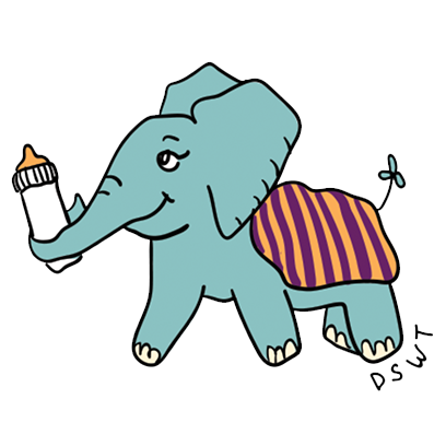 DSWT Baby Elephant Stickers messages sticker-11