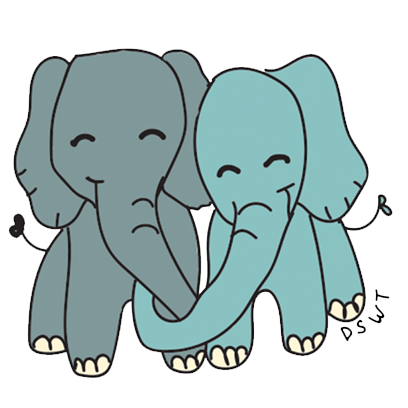 DSWT Baby Elephant Stickers messages sticker-8