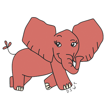 DSWT Baby Elephant Stickers messages sticker-10