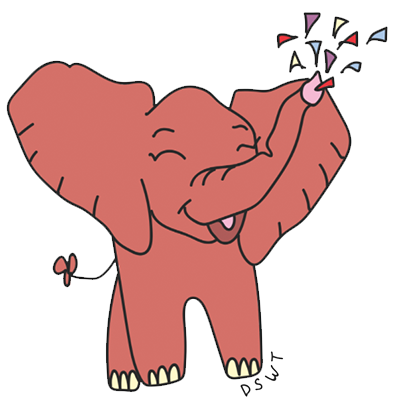 DSWT Baby Elephant Stickers messages sticker-1