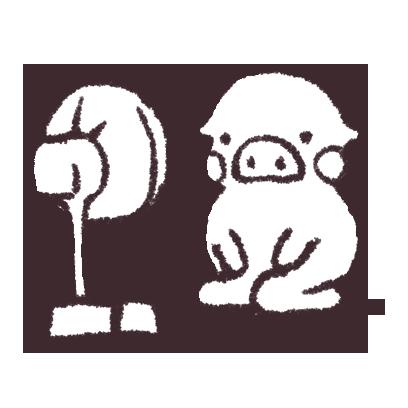 ゆるいブタの日常〈夏〉 messages sticker-5