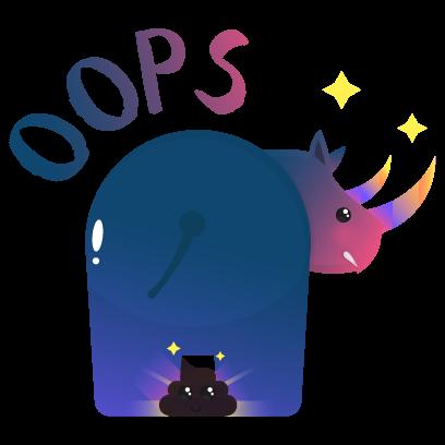 Wild Unicorn Animal Stickers messages sticker-9
