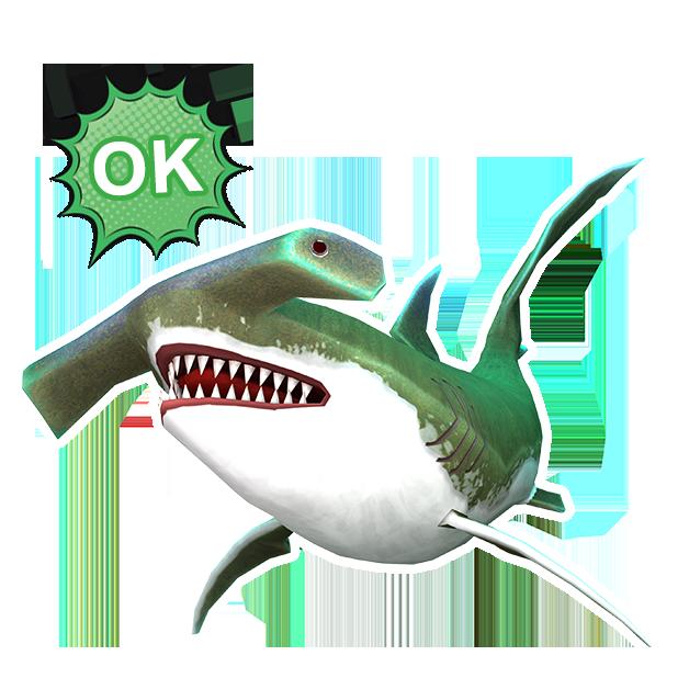 Double Head Shark Attack messages sticker-7