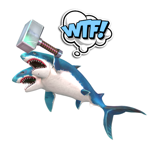 Double Head Shark Attack messages sticker-3
