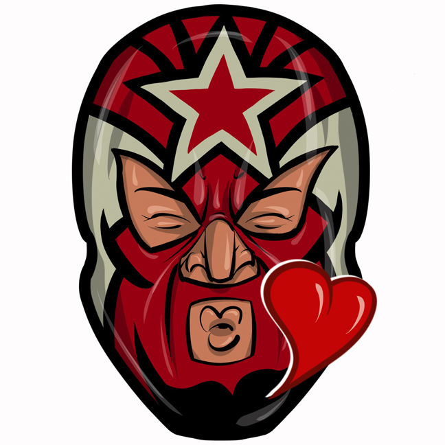 Expo Lucha Wrestlemojis messages sticker-6