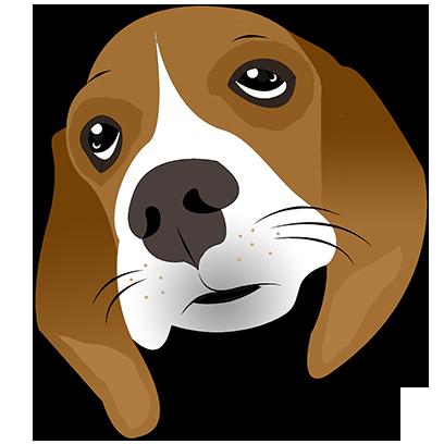 Beagle Bruno messages sticker-4