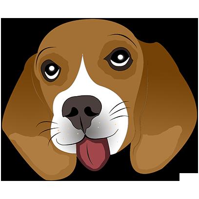 Beagle Bruno messages sticker-6