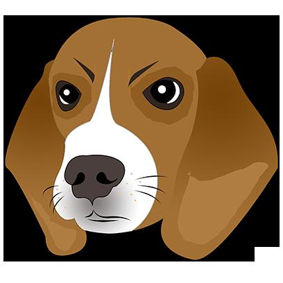 Beagle Bruno messages sticker-5