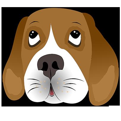 Beagle Bruno messages sticker-9