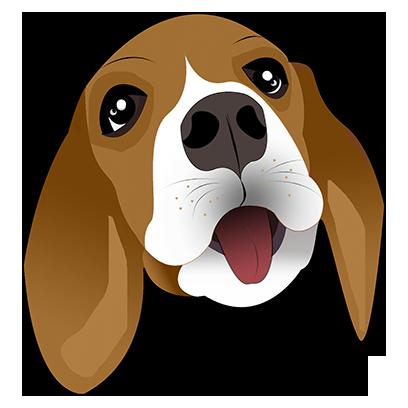 Beagle Bruno messages sticker-0