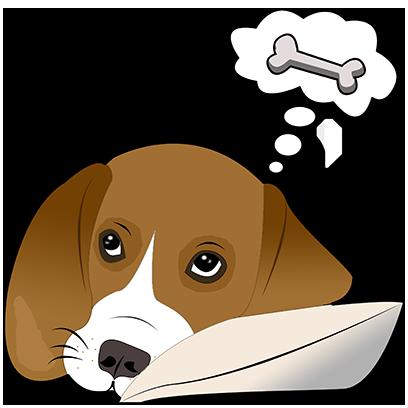 Beagle Bruno messages sticker-10