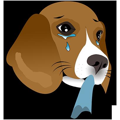Beagle Bruno messages sticker-7
