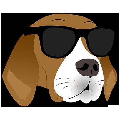 Beagle Bruno messages sticker-1