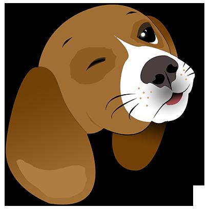 Beagle Bruno messages sticker-8
